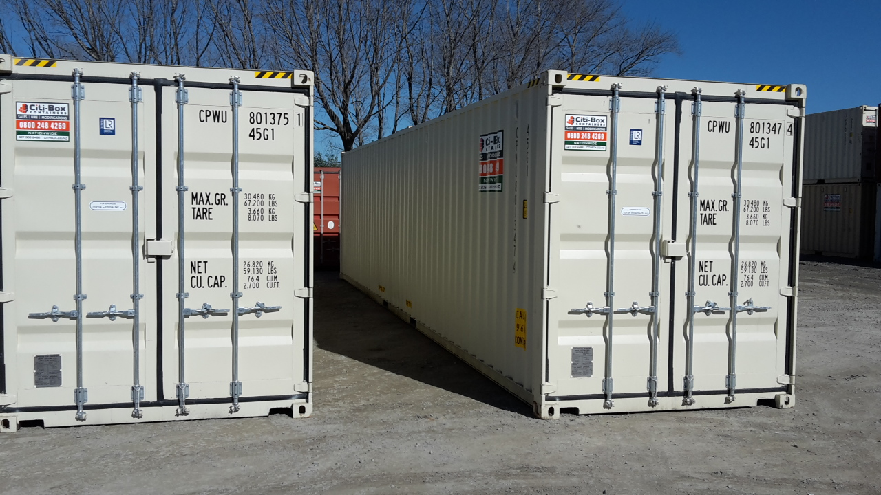 40 u2019 high cube shipping container with forklift pockets