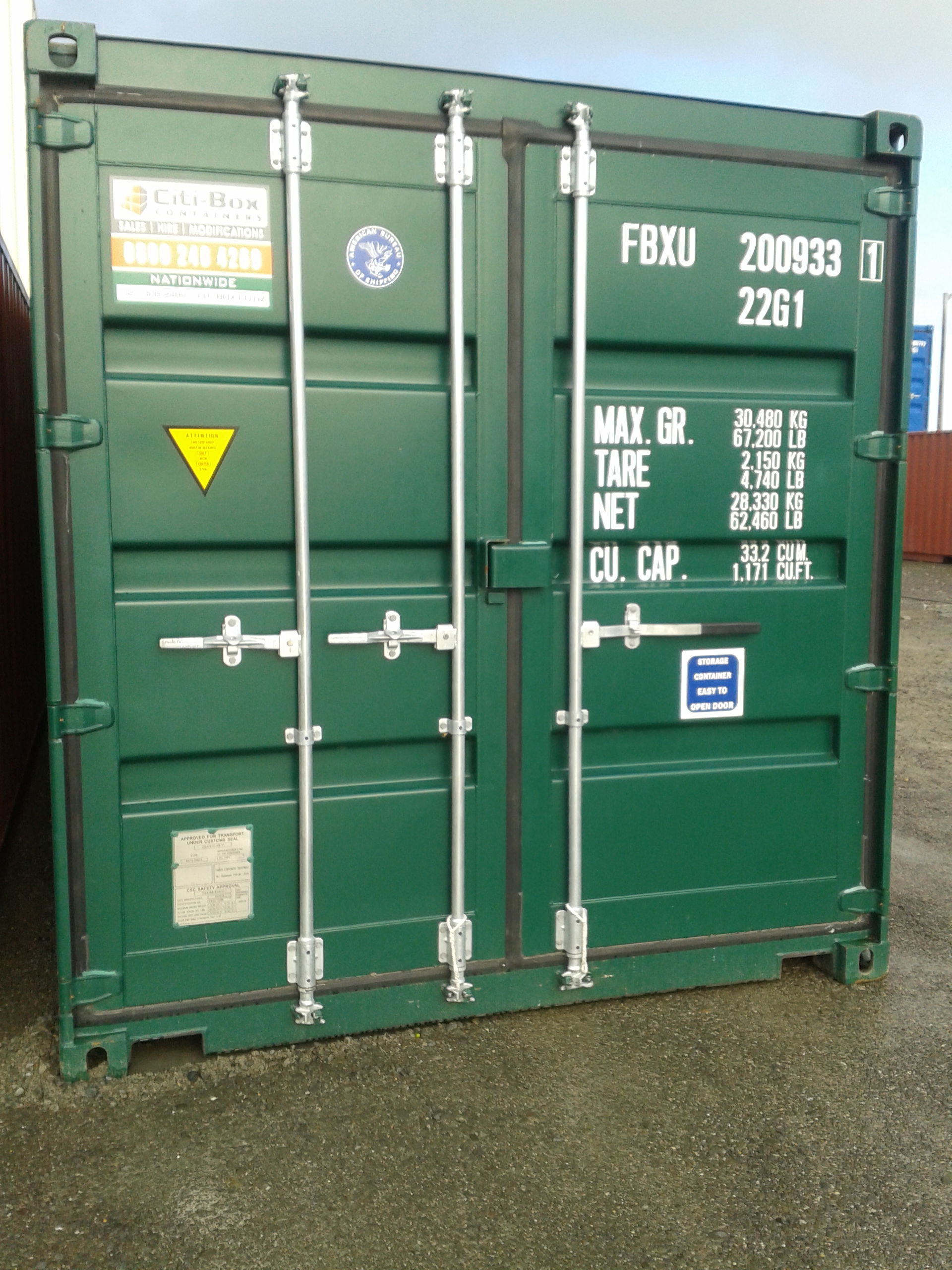 20 SHIPPING CONTAINER SINGLE HANDLE CTBU20GPSH Citi Box