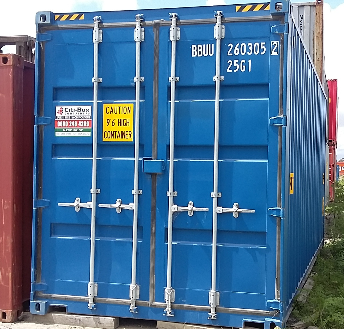 20′ HIGH CUBE DOUBLE DOOR SHIPPING CONTAINER