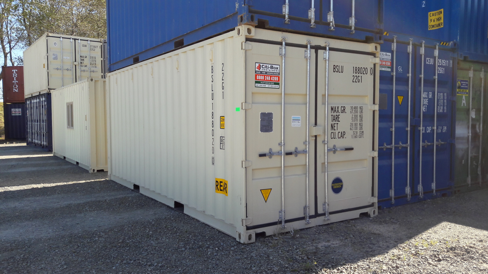 20 shipping container with extra door 20ddm1 citi box for Door to door transport
