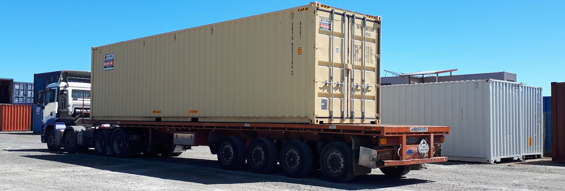 40' High Cube container delivery